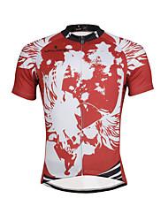 Недорогие -ILPALADINO Муж. С короткими рукавами Велокофты - Красный Мода Велоспорт Джерси Верхняя часть, Дышащий Быстровысыхающий Ультрафиолетовая устойчивость 100% полиэстер / Эластичная