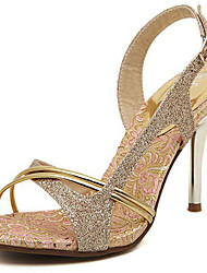 Women's Sandals Spring Summer Fall Gladiator Glitter Office & Career Party & Evening Dress Casual Stiletto Heel Gold