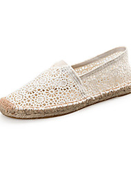 cheap -Women's Shoes Summer Espadrilles Loafers & Slip-Ons Walking Shoes Flat Heel White / Black / Red