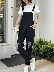 economico -Da donna Vintage Anelastico Jeans Tuta da lavoro Pantaloni,Tinta unita Cotone Estate