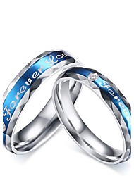 "cheap -2016 Fashioin ""Forever Love"" Stainless Steel Wedding Special Couples  Ring  For Women&Man"