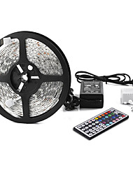 5M Waterproof Flexible Color Changing RGB SMD5050 300 LEDs Light Strip Kit with 44 Key Remote and 12V Power Supply