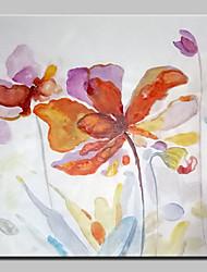 pintados à mão moderna pintura a óleo de flores abstrato sobre a arte da parede da lona, com quadro esticado pronto para pendurar