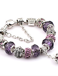 cheap -Men's Crystal Chain Bracelet / Charm Bracelet - Stainless Steel Friends Fashion, Festival / Holiday Bracelet Purple For Christmas Gifts / Wedding / Party