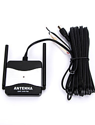 economico -CC 12V nero all'aperto ripetitore FM antenna radio TV per automobile