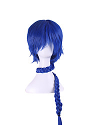 cheap -Costume Wigs / Synthetic Wig Straight / Natural Wave Asymmetrical Haircut Natural Hairline Blue Women's Capless Cosplay Wig Long