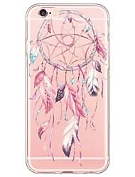 Недорогие -Назначение iPhone X iPhone 8 iPhone 6 iPhone 6 Plus Чехлы панели Ультратонкий Полупрозрачный Задняя крышка Кейс для Ловец снов Мягкий