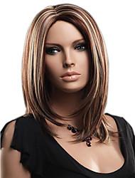Donna Parrucche sintetiche Senza tappo Pantaloncini Lisci Marrone parrucca nera costumi parrucche