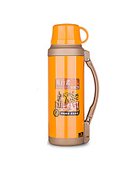 cheap -Travel Travel Bottle & Cup Travel Drink & Eat Ware Stainless Steel / Rubber Orange KUSHUN™