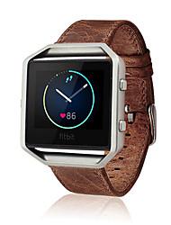 economico -Caffè / Marrone Pelle Chiusura classica / Cinturino di pelle Per Fitbit Orologio 23 millimetri