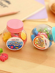 20 Exquisite Cartoon Mini Erasers Small Rubbers Barreled Small Correction Stationery
