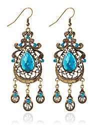 abordables -Mujer Pendientes colgantes / Pendients de aro - Moda Azul Para Boda