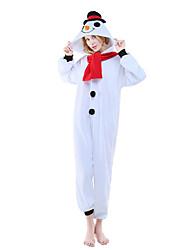 abordables -Kigurumi Pijamas Leotardo/Pijama Mono Festival/Celebración Ropa de Noche de los Animales Halloween Estampado Animal Lana Polar Kigurumi