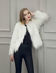 abordables -Mujer Vintage Abrigo Un Color