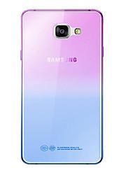 cheap -Fashion Soft TPU Gradient Color Back Cover Case For Samsung Galaxy A3 A5 A7 2016 A8 A9