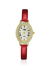 cheap -Women's Dress Watch Fashion Watch / Quartz Leather Band Vintage Casual White Red