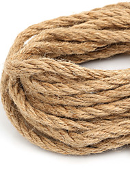 cheap -Beadia 6mm Natural Hemp Jute Cord For DIY Jewelry Craft Making (5Mts)