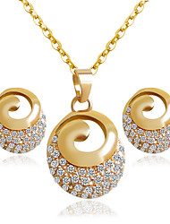 cheap -Alloy Bridal Jewelry Sets Golden Necklaces Earrings Wedding/Party 1set