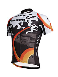 ILPALADINO Cycling Jersey Men's Short Sleeves Bike Tops Quick Dry Ultraviolet Resistant Breathable Soft Compression Lightweight Materials