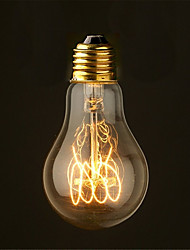 40W 2700K Vintage Edison Bulb A19 Antique Filament Style Incandescent Light Bulbs Medium(AC220-240V)
