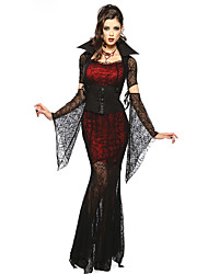 Costumes Vampires Halloween Red & Black Lace Spandex / Terylene Skirt / Sleeves / Belt / Necklace