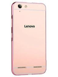 cheap -For Lenovo Vibe K4 Note/K5 Case Luxury Gold Plating Armor Aluminum Metal Frame + Mirror Acrylic Case Back Cover Hot