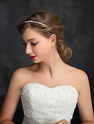 cheap -Imitation Pearl Rhinestone Alloy Headbands 1 Wedding Special Occasion Casual Headpiece