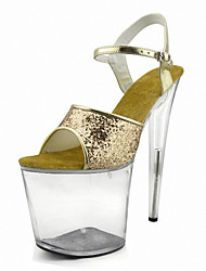cheap -Nightclub Women's Performance props The stage Heels  /  Fashion simple Sandals / Party / Wedding dress and high heels Rose Gold