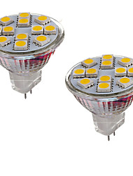 2W GU4(MR11) Luci LED Bi-pin MR11 12 SMD 5050 150-200 lm Bianco caldo Luce fredda 3000-3500/6000-6500 K Decorativo DC 12 V