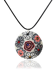 Necklace Pendant Necklaces Jewelry Wedding / Party / Daily / Casual Bohemia Style Ceramic Assorted Color 1pc Gift