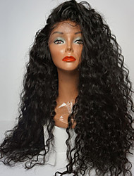 cheap -Synthetic Lace Front Wig Curly / Loose Curl Side Part 180% Density Synthetic Hair Heat Resistant / Natural Hairline / African American Wig