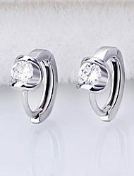 abordables -high-end s925 silver angel kiss pendientes estilo femenino clásico