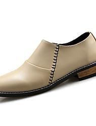 Homme Chaussures Polyuréthane Printemps Automne Oxfords Pour Mariage Décontracté Noir Beige Rouge
