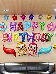 cheap -Alphabet Letters Happy Birthday Balloons Set(31 Balloons, 1 Inflator, 1 Tape) For Birthday Party Decoration