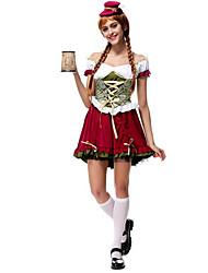 Недорогие -Костюмы горничной Октоберфест Римские костюмы Косплэй Kостюмы Костюм для вечеринки Женский Хэллоуин Рождество Карнавал Новый год
