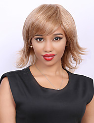 Medium Mischfarbe flauschigen Schwanz nach oben Seite bang Mode Menschenhaar-Perücke für Frauen