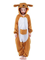 Kigurumi Pajamas New Cosplay® Kangaroo Leotard/Onesie Festival/Holiday Animal Sleepwear Halloween Orange Patchwork Velvet Mink Kigurumi