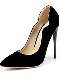 baratos -Homens Mulheres Para Meninas Unisexo Sapatos Microfibra Couro Envernizado Primavera Verão Saltos Caminhada Salto Agulha Flor para