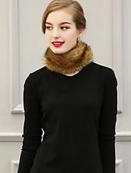 Women Faux Fur Scarf,Casual