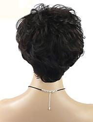 Joywigs Brazilian Virgin Human Hair Curly Wigs Short Natural Wave Glueless None Lace Wigs  For Black Women