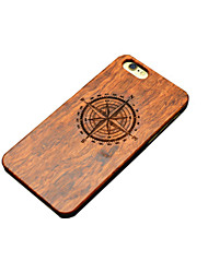 cheap -Wooden iphone Case Compass the North Carving Concavo Convex Hard Back Cover for iPhone 5/5s