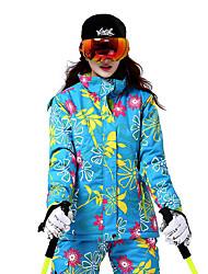 Skikleidung Ski/Snowboard Jacken Damen Winterkleidung Baumwolle / Polyester Blumen / Pflanzen Kleidung für den Winterwarm halten /