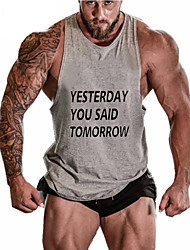 Men's Gym Tank Top Sleeveless Quick Dry Breathable Held-In Sensation Comfortable Static-free Lightweight Materials Sweat-wicking Softness