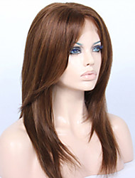 cheap -Premierwigs 8A 8''-26'' Layered Straight Brazilian Virgin Glueless Full Lace Human Hair Wigs Glueless Lace Front Wigs