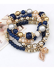Strand Bracelets 1pc,Black / Blue / Pink Bracelet Vintage Circle 514 Alloy Jewellery
