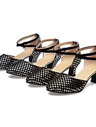 cheap -Women's Dance Shoes Latin / Salsa / Modern Sandals Heel Practice / Professional Silver / Gold Customizable