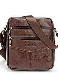 cheap -Men's Bags Cowhide Crossbody Bag Zipper for Outdoor Black / Coffee
