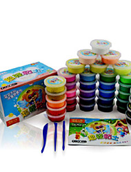 Super Light Clay Putties Play Dough,Plasticine & Putty Toys Bear 3D Novelty DIY 36 Pieces