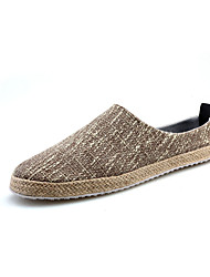 cheap -Men's Loafers & Slip-Ons Spring / Summer / Fall / Winter Comfort / Flats Canvas Casual Flat Heel