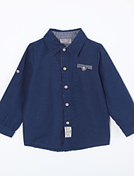cheap -Boys' Solid Colored Cotton Shirt